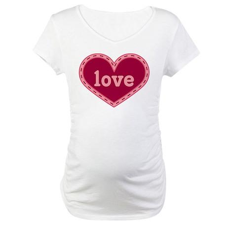 Cute Heart Of Love Maternity T-Shirt