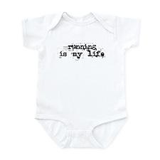 Running is my life Infant Bodysuit
