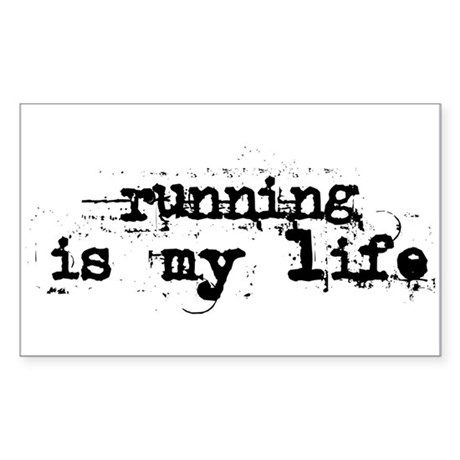 Running is my life Sticker (Rectangle)