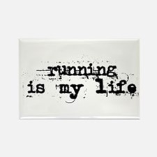 Running is my life Rectangle Magnet