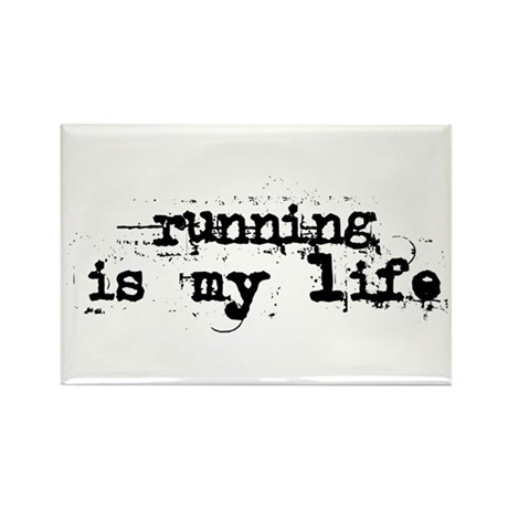 Running is my life Rectangle Magnet (10 pack)