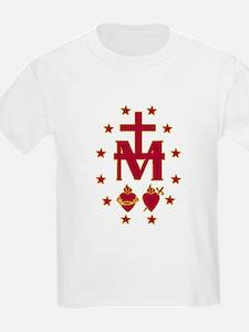 Blessed Virgin Symbolism Kids T-Shirt