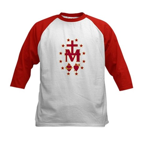 Blessed Virgin Symbolism Kids Baseball Jersey