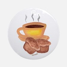 COFFEE AND MUFFINS Ornament (Round)