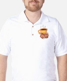 COFFEE AND MUFFINS Golf Shirt