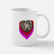 Ferret Curled in a Heart Mug