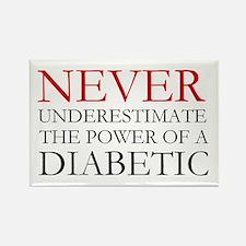 Never Underestimate... Diabetic Rectangle Magnet