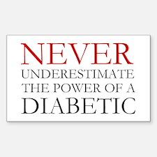 Never Underestimate... Diabetic Decal