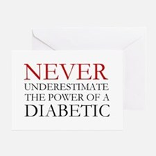 Never Underestimate... Diabetic Greeting Card