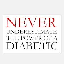 Never Underestimate... Diabetic Postcards (Package