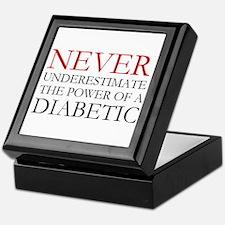 Never Underestimate... Diabetic Keepsake Box