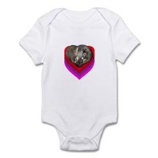 Ferret Curled in a Heart Infant Bodysuit