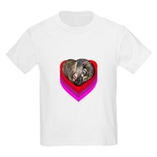 Ferret Curled in a Heart T-Shirt