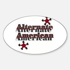 Alternate AMERICAN Oval Decal