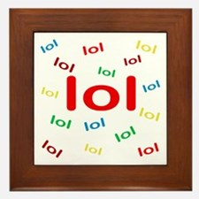 Laughing Out Loud Framed Tile