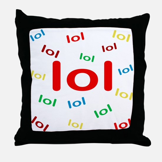 Laughing Out Loud Throw Pillow