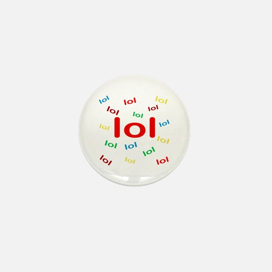 Laughing Out Loud Mini Button