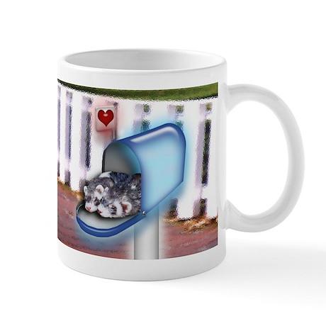 Ferret Couple in Mailbox Mug