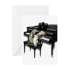 Ferret Couple Piano Duet Greeting Card
