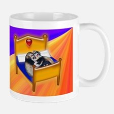 Ferret Couple Snuggle in Bed Mug