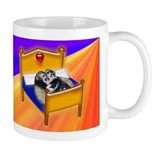 Ferret Couple Snuggle in Bed Mug
