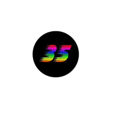 35 Rainbow Mini Button