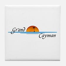 Grand Cayman Sunset Tile Coaster