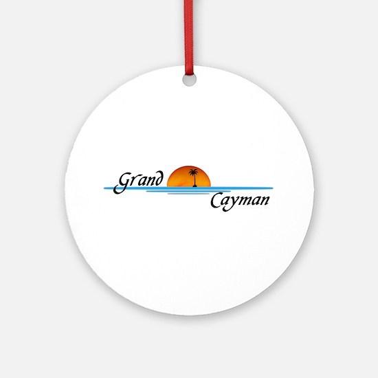 Grand Cayman Sunset Ornament (Round)