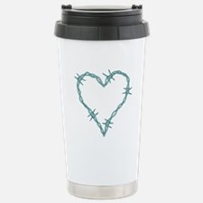 Barbed Wire Heart Travel Mug