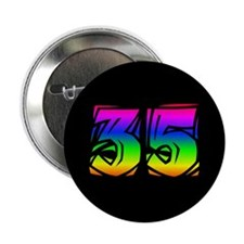 """35 Rainbow 2.25"""" Button (10 pack)"""