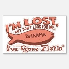 Dharma Fish Biscuit Rectangle Decal