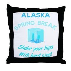 Funny Spring Break Throw Pillow