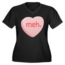 Meh Sweeetheart Women's Plus Size V-Neck Dark T-Sh