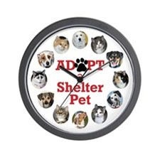Adopt a Shelter Pet Wall Clock