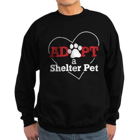 Adopt a Shelter Pet Sweatshirt (dark)