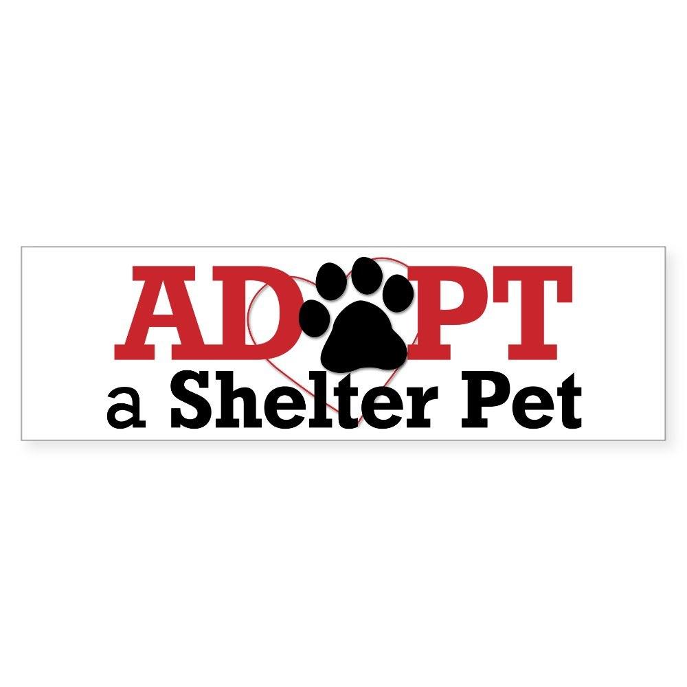 CafePress Adopt a Shelter Pet Sticker (Bumper)