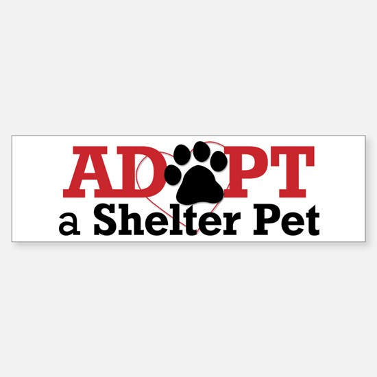 Adopt a Shelter Pet Sticker (Bumper)
