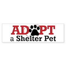 Adopt a Shelter Pet Bumper Sticker