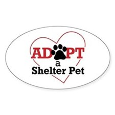 Adopt a Shelter Pet Decal