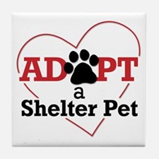 Adopt a Shelter Pet Tile Coaster