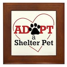 Adopt a Shelter Pet Framed Tile