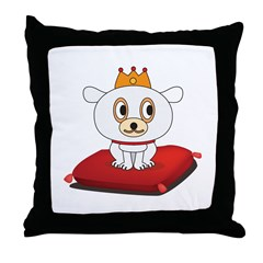 King Doggie Dogster Throw Pillow