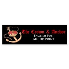 Crown & Anchor Bumper Bumper Sticker