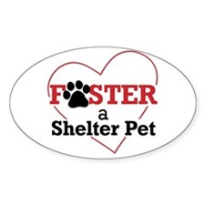 Foster a Pet Oval Decal