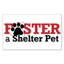 Foster a Pet Rectangle Decal