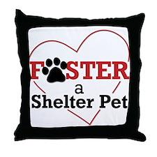 Foster a Pet Throw Pillow