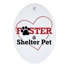 Foster a Pet Oval Ornament
