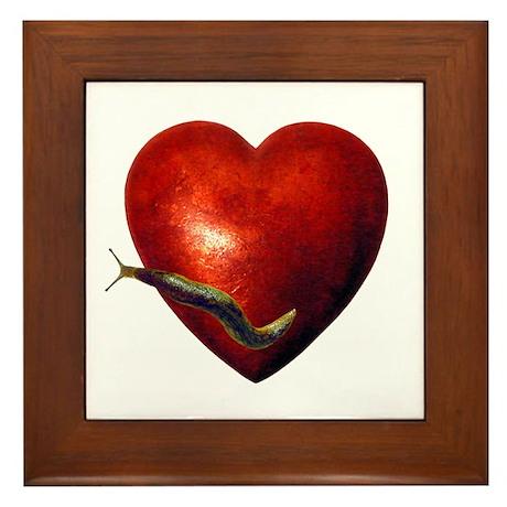 Love Slug Framed Tile