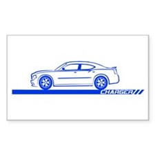 2005-10 Charger Black Car Rectangle Decal