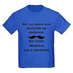 Mustaches Kids Dark T-Shirt